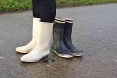 343 -- White wellies from Hevea -- Rubberboots -- Gummistiefel --Hevea Regenlaarzen
