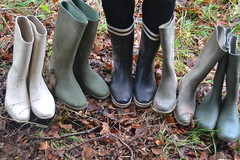 335 -- Collection of wellies -- Rubberboots -- Gummistiefel -- Regenlaarzen