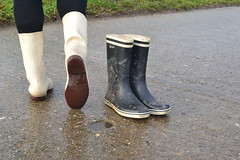 340 -- White wellies from Hevea -- Rubberboots -- Gummistiefel --Hevea Regenlaarzen
