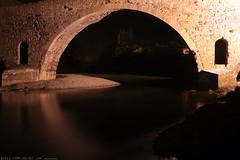 FR11 3422 Le Pont de l'Abbaye et la rivière l'Orbieu. Lagrasse, Aude, Languedoc
