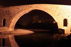 FR11 3419 Le Pont de l'Abbaye et la rivière l'Orbieu. Lagrasse, Aude, Languedoc