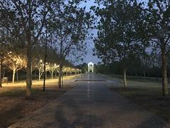 Bicentennial Park at night