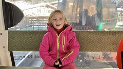 Madeleine takes in her first major gondola ride