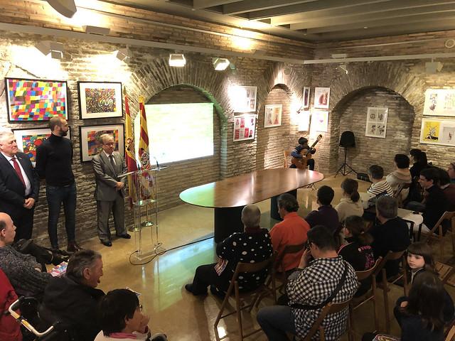 """Inauguración de la Exposición de ATADES """"Arte y Diseño Inclusivo"""" en la sede del Justiciazgo"""