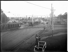 Trams returning from Randwick Races, ca. 1925