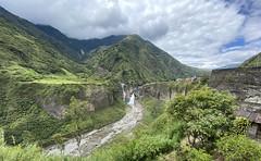 The Highway of the Waterfalls (la Ruta de las Cascadas), Baños de Agua Santa at 1,800 metros (5,905 ft) above sea level, the Central Highlands, Ecuador.