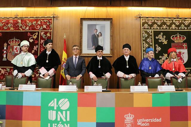 Acto Académico Conmemorativo del 40 Aniversario de la Universidad de León 18