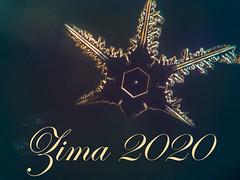 Pahuljica i tekst Zima 2020