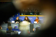 GUE/NGL co-president Martin Schirdewan with Monica Benicio & Claudelice Silva Dos Santos