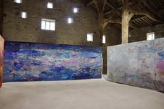 """Monumental Textile from Alice Kettle's Exhibition """"Thread Bearing Witness"""""""