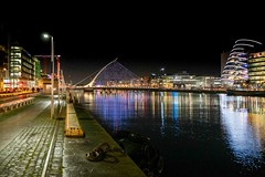 THE SAMUEL BECKETT BRIDGE DRESSED FOR CHRISTMAS [LAST CHRISTMAS OF THE DECADE]-158490