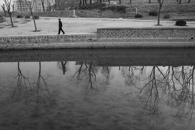 Reflections in the canal, Yuan Dynasty City Wall Park, Beijing