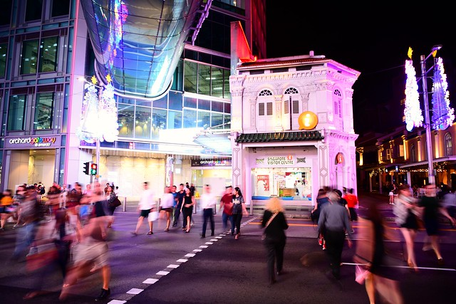Singapore, Orchard road, pedestrian crossing