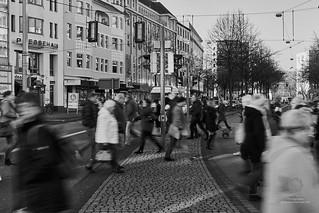 Menschen in der Innenstadt
