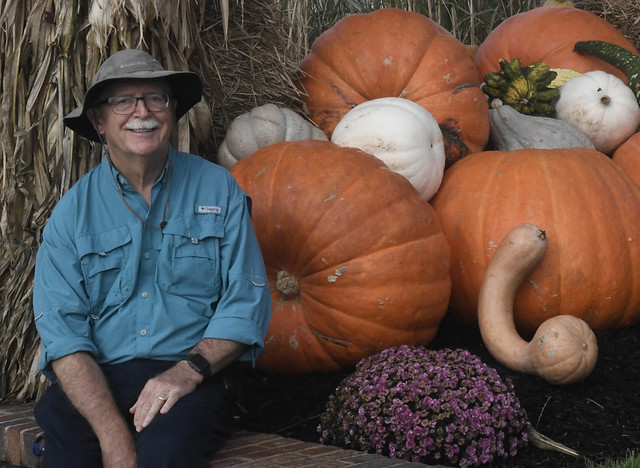JJ with diverse pumpkins and gourds, med res, Cape May, NJ, DSC_9004