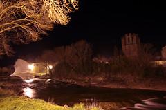 FR11 3469 La rivière l'Orbieu & l'abbaye Sainte-Marie. Lagrasse, Aude, Languedoc