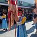 Guard procession at Namdaemun market