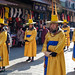 Guard procession at Namdaemun market