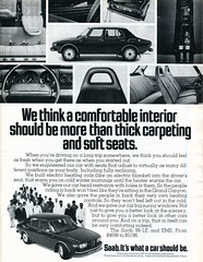 1974 Saab 99 LE Advertising Road & Track March 1974