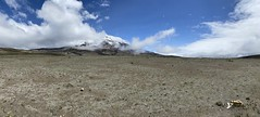 'El Chimborazo' Volcano at 6,263 meters (20,702 ft) above sea level, the Central Ecuadorian Andes.