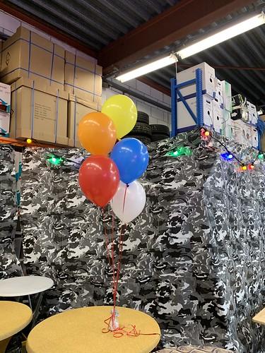 Tafeldecoratie 5ballonnen Netinstall Kethelvaart Schiedam