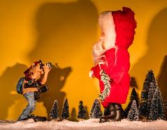 Weihnachtsmann vor der Linse