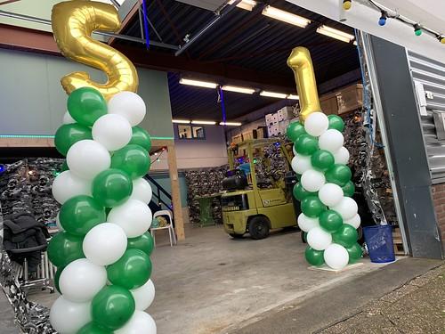 Ballonpilaar Breed Folieballon Cijfer Netinstall Kethelvaart Schiedam