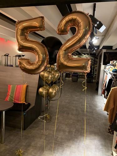 Folieballon Cijfer 52 Club Active Barendrecht