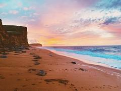 Sunrise at West Bay, Dorset