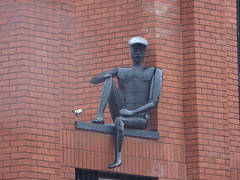 Peaky Blinders statue at Assay Lofts - Charlotte Street, Jewellery Quarter