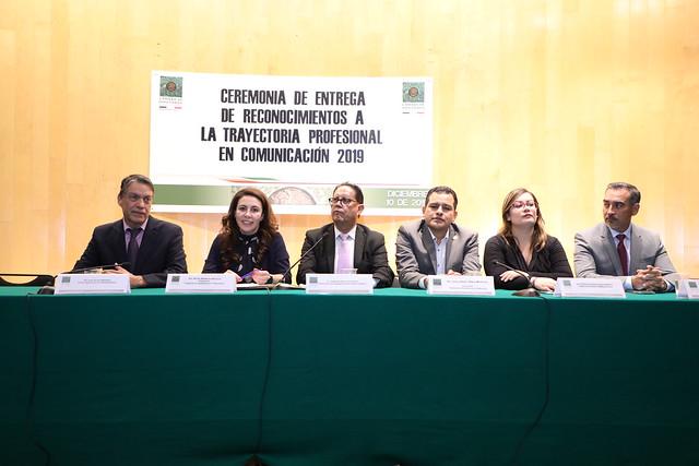 10/12/2019 Entrega de reconocimientos a la trayectoria en Comunicación 2019