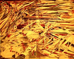 La Bataille des couteaux [Tapestry] (1981) - Maria Helena Vieira da Silva (1908-1992)