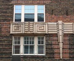 Art Deco facade detail, Greenwich Village, New York