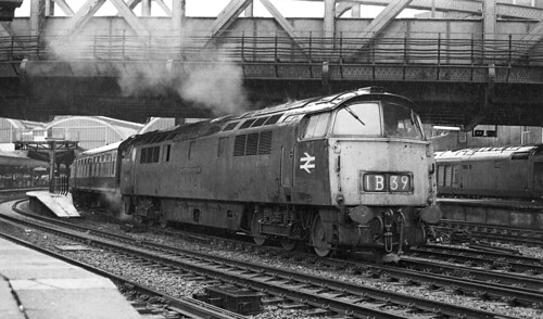 A western in the pouring rain at Paddington 1975.