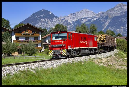 Zillertalbahn D14, Schlitters, 20-08-2012