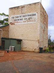 North Broken Hill. In Buck Street. Built 1893 for SA Brewing Company Adelaide. It was the fifth brewery built in the silver lead and zinc mining city and the last to close in 1926. Now a Scout Hall.