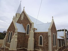 North Broken Hill. St Peter and Paul Catholic Church. Opened in 1929 with a Catholic School. School now vandalised and empty. Church still has masses.