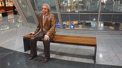 Albert Einstein greets you at Frankfurt Airport