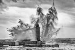 Phare de Cassis, coup de mer
