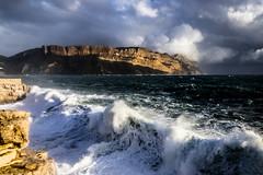 La Presqu'île, Cassis, tempête