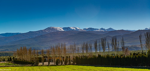 Snow Capped Sierra Nevada Mountains in Andalusia-Spain