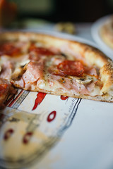 Sliced pizza on a plate