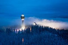 Puijo observation on a misty December morning