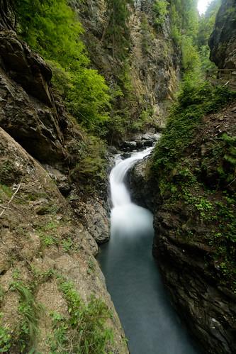 Une des cascades des gorges de la Diosaz