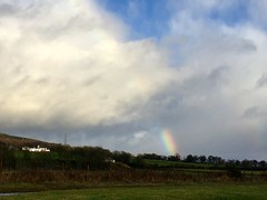 Rainbow on the hillside