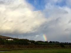 Rainbow on the hillside
