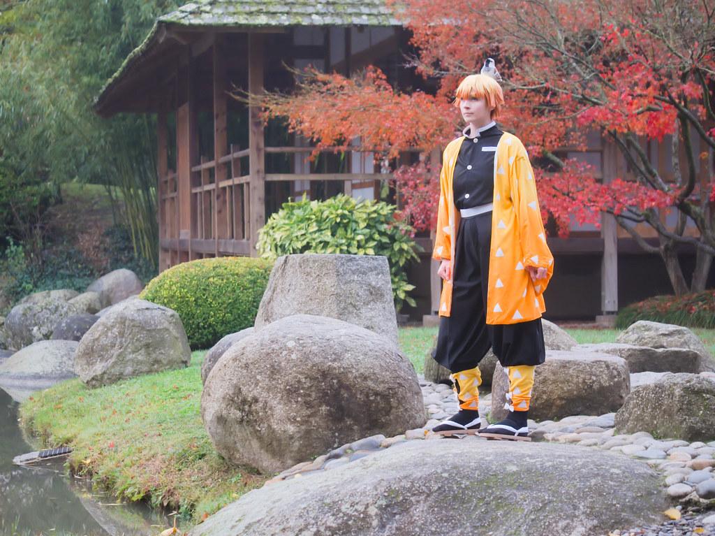 related image - Shooting Demon Slayer Kimetsu no yaiba - Zenitsu Agatsuma - Jardin Japonais - Toulouse -2019-12-01- P1955733