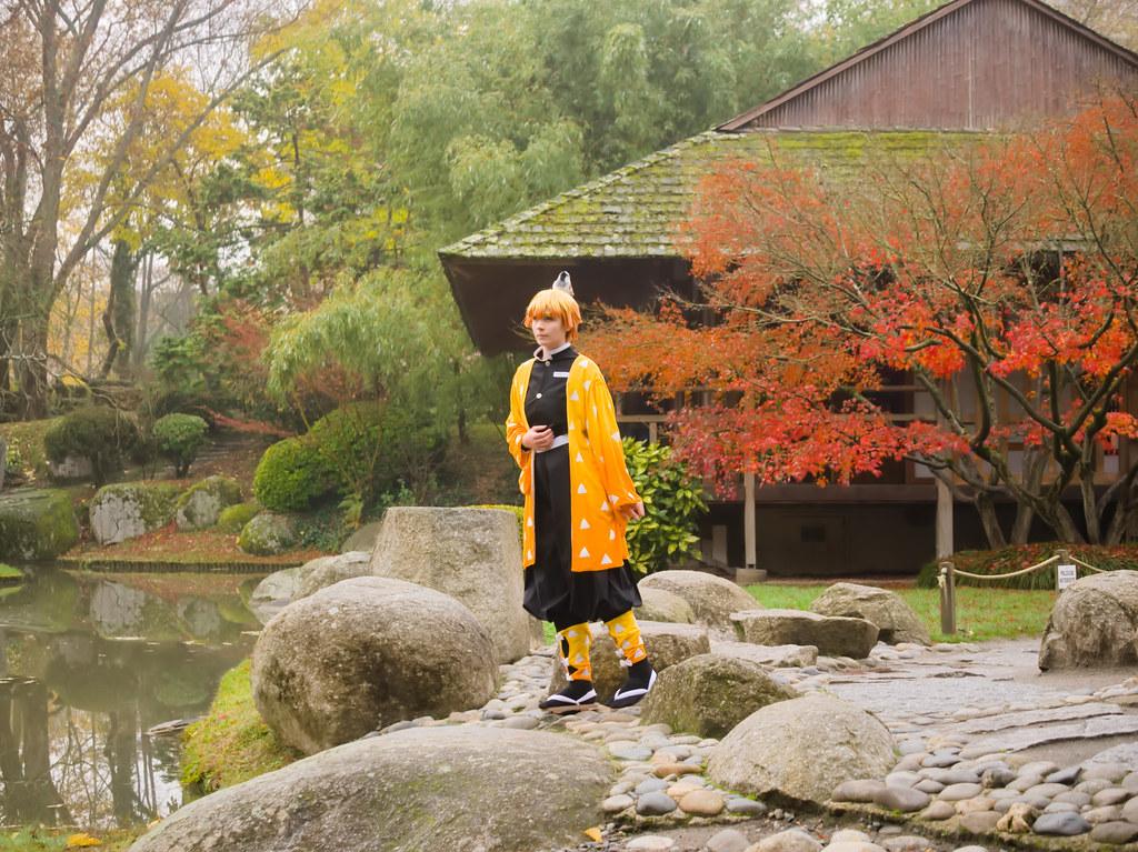 related image - Shooting Demon Slayer Kimetsu no yaiba - Zenitsu Agatsuma - Jardin Japonais - Toulouse -2019-12-01- P1955750