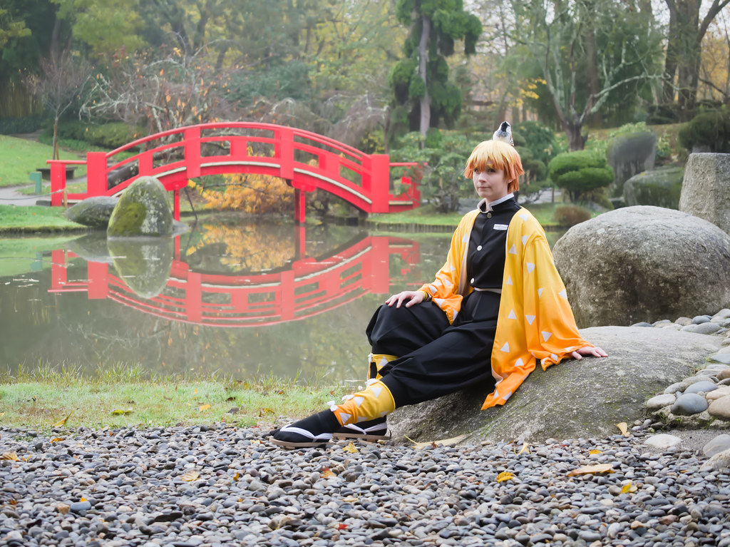 related image - Shooting Demon Slayer Kimetsu no yaiba - Zenitsu Agatsuma - Jardin Japonais - Toulouse -2019-12-01- P1955759