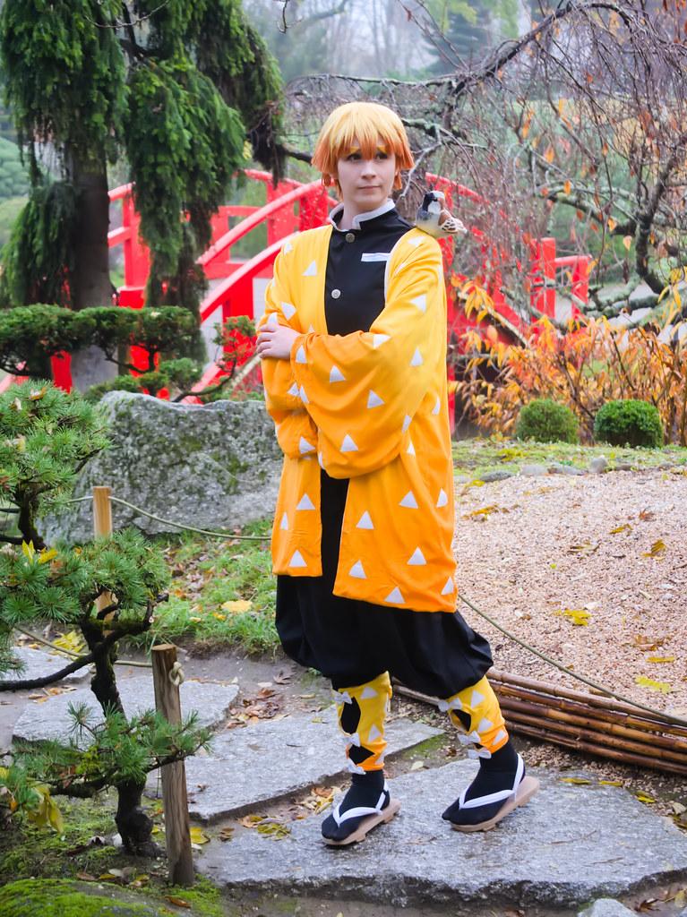 related image - Shooting Demon Slayer Kimetsu no yaiba - Zenitsu Agatsuma - Jardin Japonais - Toulouse -2019-12-01- P1955797